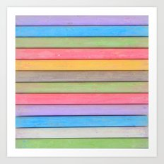 Rainbow Chalks Art Print