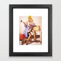 Cinderella - Pinup version Framed Art Print