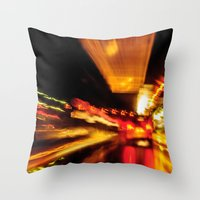 City Lights IV Throw Pillow