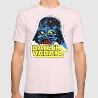 Darth Vader Mens Fitted Tee Light Pink SMALL