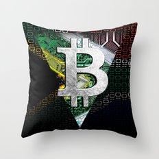 bitcoin South Africa Throw Pillow