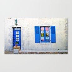 Mediterranean holiday house. Canvas Print