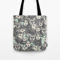 sweater mice mint Tote Bag