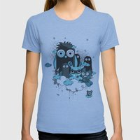 Nocturnal Friends Womens Fitted Tee Athletic Blue SMALL