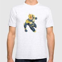 Nova Prime Mens Fitted Tee Ash Grey SMALL