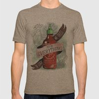 An Ode To Sriracha Mens Fitted Tee Tri-Coffee SMALL