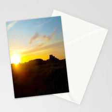 Winter sunset in Bamburgh Stationery Cards