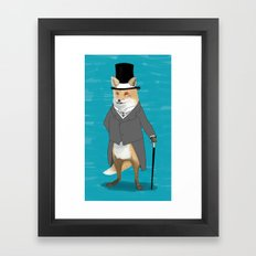 19th century fox Framed Art Print