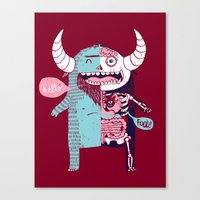All Monsters are the Same Canvas Print