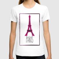 eiffel T-shirts featuring Eiffel by Vintage Fox