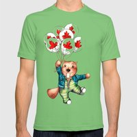 Bob's Balloons  Mens Fitted Tee Grass SMALL