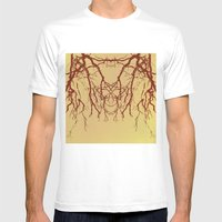 Branches#07 Mens Fitted Tee White SMALL
