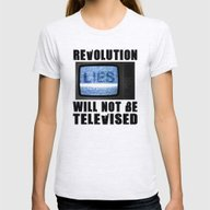 Revolution Will Not Be T… Womens Fitted Tee Ash Grey SMALL