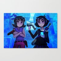 Raven And Crow Canvas Print