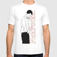PickPocket 02 Mens Fitted Tee White SMALL