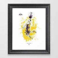 Kobe Bryant Tribute Framed Art Print