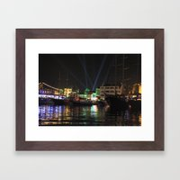 Marmaris Marina Nightsca… Framed Art Print