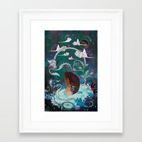 Delicate Distraction Framed Art Print