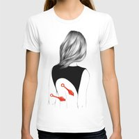 Back Stabbers II Womens Fitted Tee White SMALL