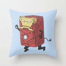 Refrig'r-Iron-Man Throw Pillow