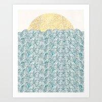 Sunny Tribal Seas Art Print