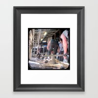 Heads Down, Bums Up - Th… Framed Art Print
