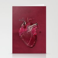Digital Heart Stationery Cards