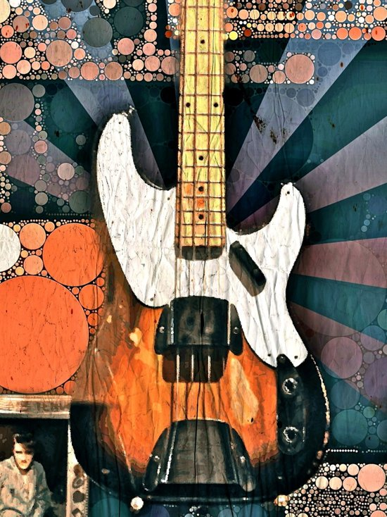 Elvis' Bass Art Print