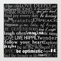 Inspirational Words Canvas Print