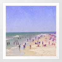 Life Is Better At The Be… Art Print