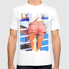 a girl on the boat Mens Fitted Tee White SMALL