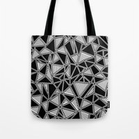 Abstract Outline Lines B… Tote Bag