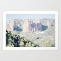 Dame montañas Art Print