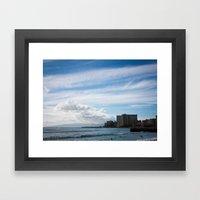 Waikiki Beach Framed Art Print