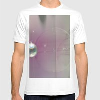 pink silver Mens Fitted Tee White SMALL