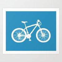 Mountain Bike Blue Art Print