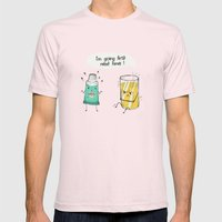 I'm going first Mens Fitted Tee Light Pink SMALL