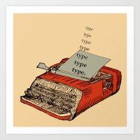 Tpyewriter Art Print