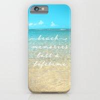 Beach Memories Last A Li… iPhone 6 Slim Case