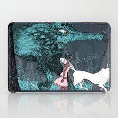 Woman Wolf wandering iPad Case