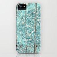 Teal & Aqua Botanical Do… iPhone (5, 5s) Slim Case