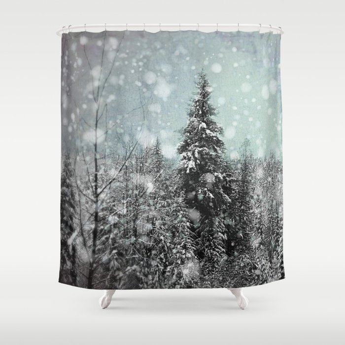 snow shower curtain by pure nature photos society6