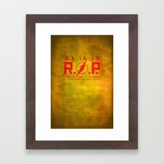 RIP Kid Flash Framed Art Print