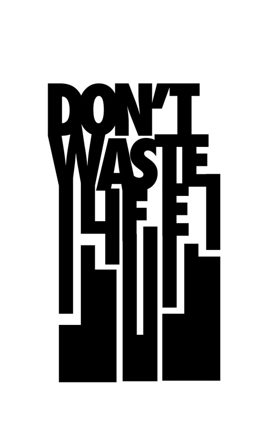 Don't Waste Life Art Print