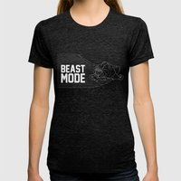 Beast Mode Womens Fitted Tee Tri-Black SMALL