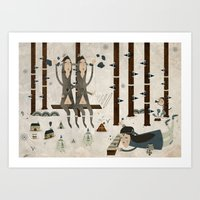 Music In The Forest Art Print