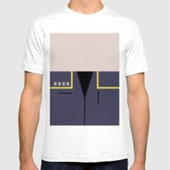 Jonathan Archer - Minima… Mens Fitted Tee White SMALL