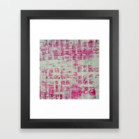 Pink Block Framed Art Print
