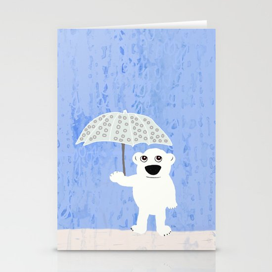 Rain Stationery Card