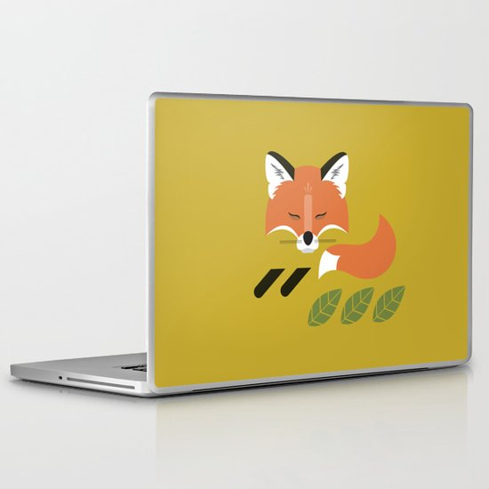 Resting Fox Laptop & iPad Skin